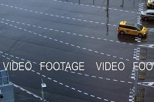 Cars on driveway to Sheremetyevo