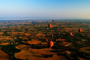 Ballooning in the dawn over Bagan, M