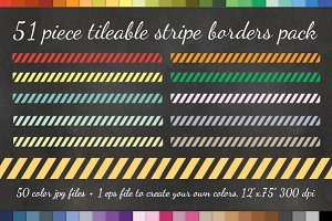 51 Diagonal Striped Border PNGs +EPS