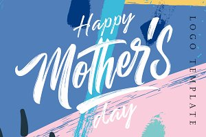 Happy Mother's  Day logo template