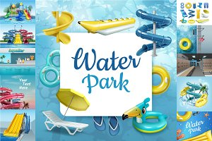 Big Vector Waterpark Set