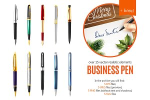 Business Pen Realistic Set