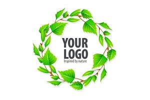Natural organic sign logo. Vector.