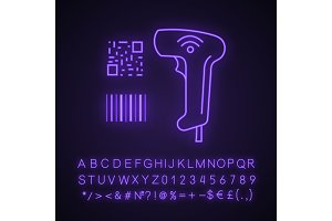 Barcode and QR code scanner icon