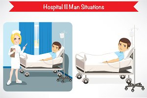 4 Hospital Ill Man Situations