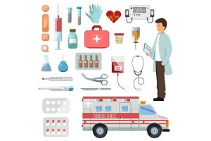 Pharmacy vector doctor character on