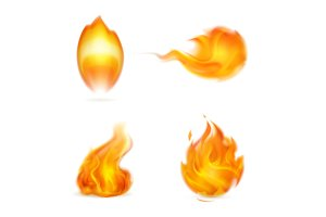 Flames vector icons