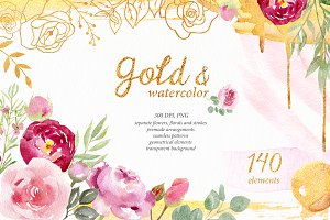 Gold & watercolor collection