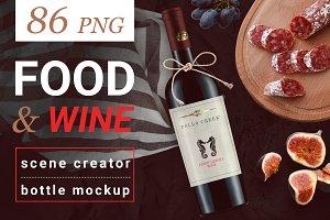 Food & Wine Scene Creator & Mockups