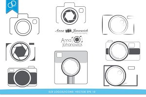 Camera SLR Logos/Icons Vector