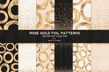 Rose Gold Mod Dot Foil Patterns