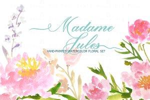 Madame Jules- Watercolor Clip Art