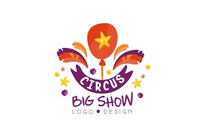 Circus big show logo design