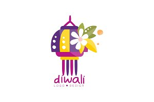 Diwali logo design, festival of