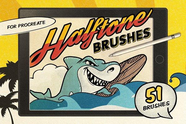 Photoshop Brushes: Pixelbuddha - Vintage Comic Procreate Brushes