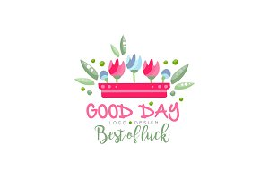 Good Day, Best of Luck logo, design
