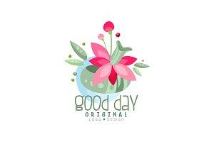 Good Day logo, design element can
