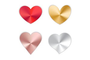 Set of hearts with gradient