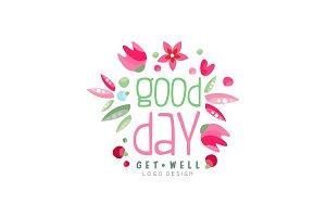 Good Day, Get Well logo, design
