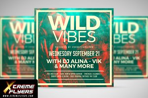 Wild Vibes Flyer Template