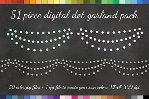Dot Garland Clipart 50 PNGS +EPS