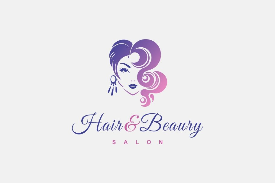 Hair Beauty Logo Creative Illustrator Templates Creative Market