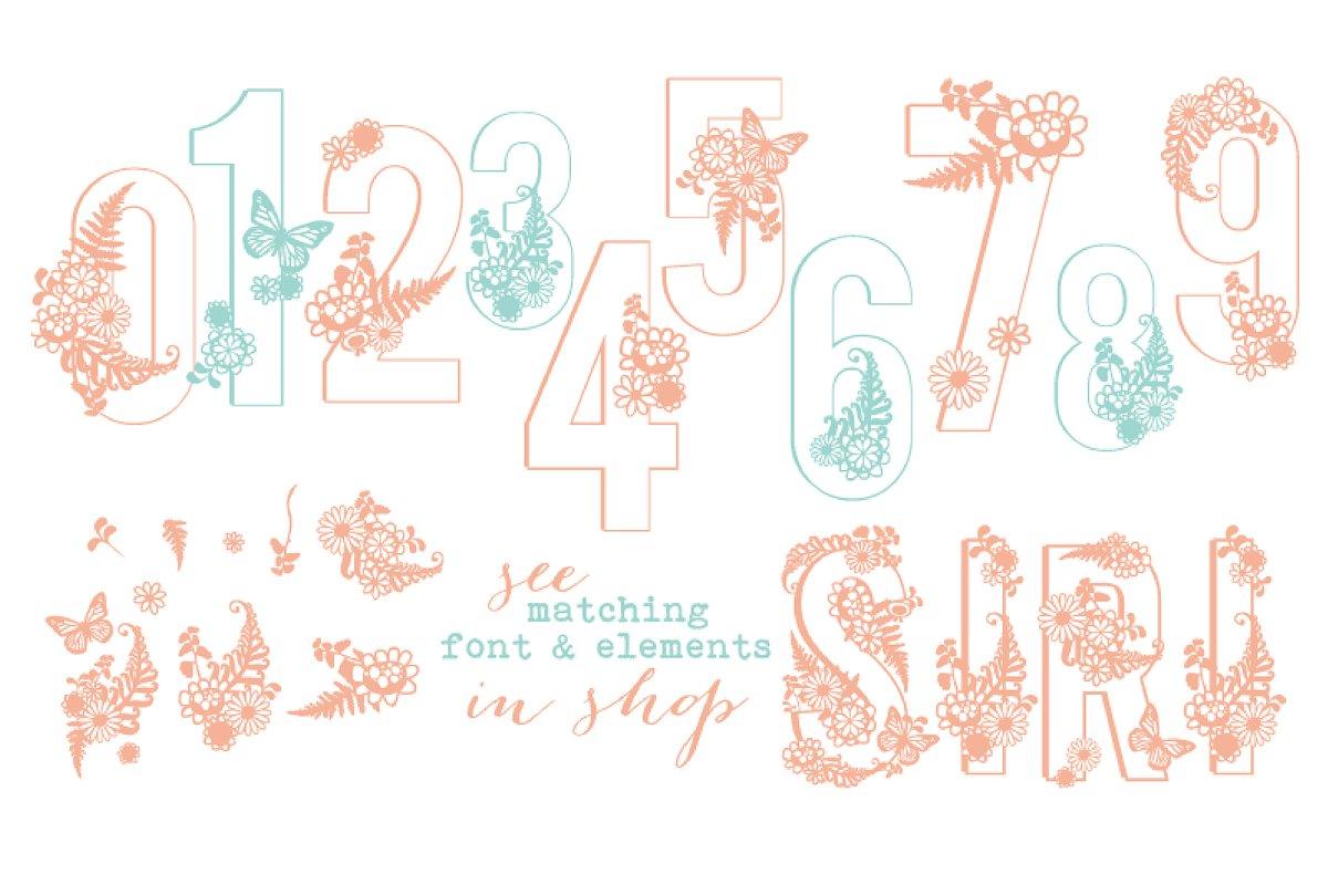 Siri Floral Numbers Font