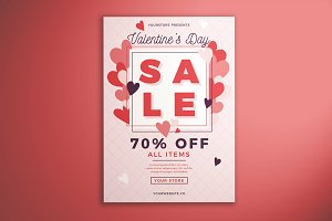 Valentine's Day Sale Flyer Vol. 01