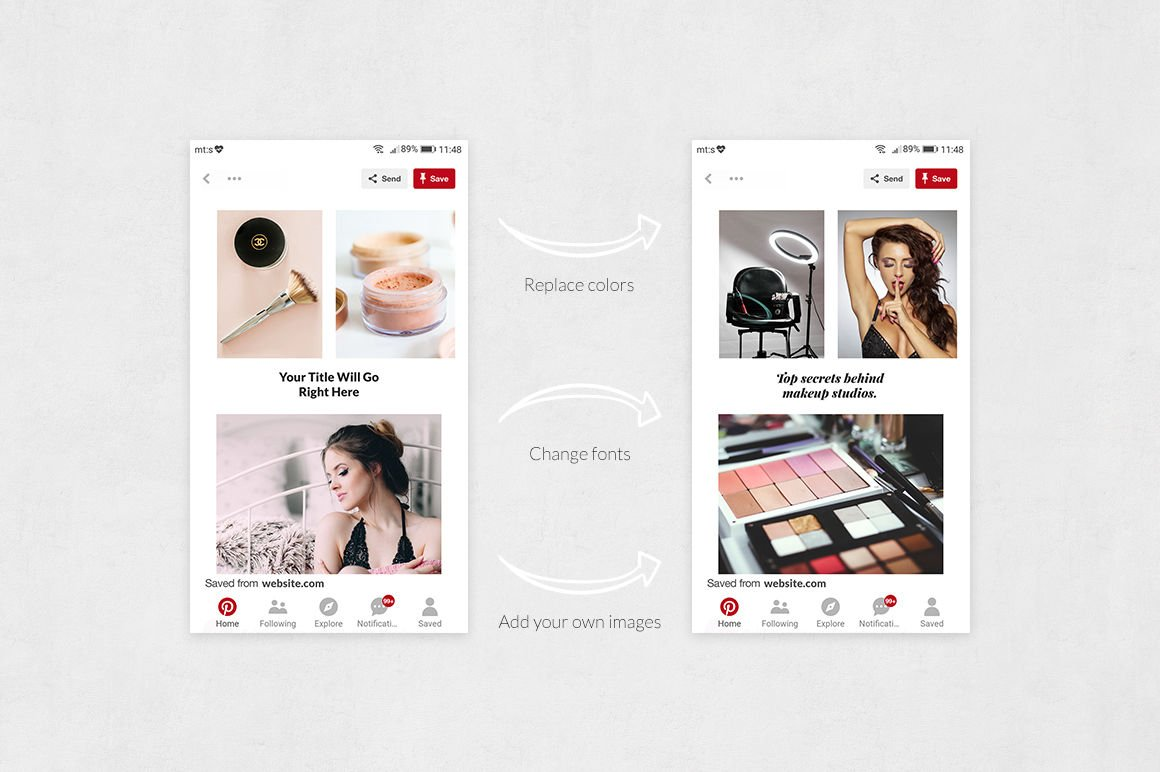 Makeup Pinterest Posts
