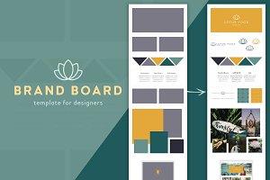 Brand Board Template: Yoga