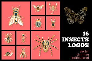 16 Insects Logos