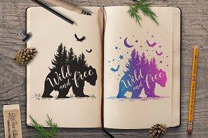 Wild Bear Silhouettes