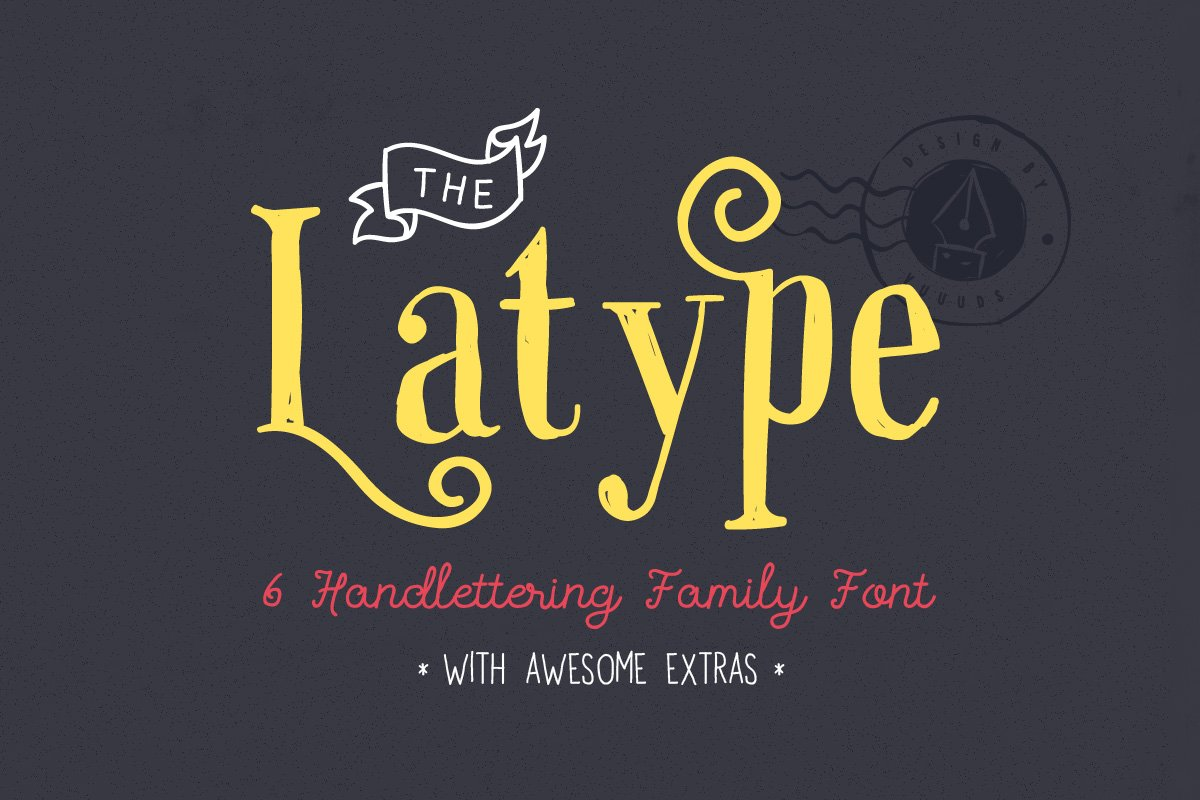 fcfe19724b5 Latype Font Family - 70% off ~ Display Fonts ~ Creative Market