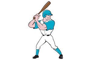 Baseball Player Batting Stance Isola
