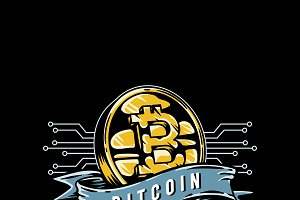 Hand drawn bitcoin icon
