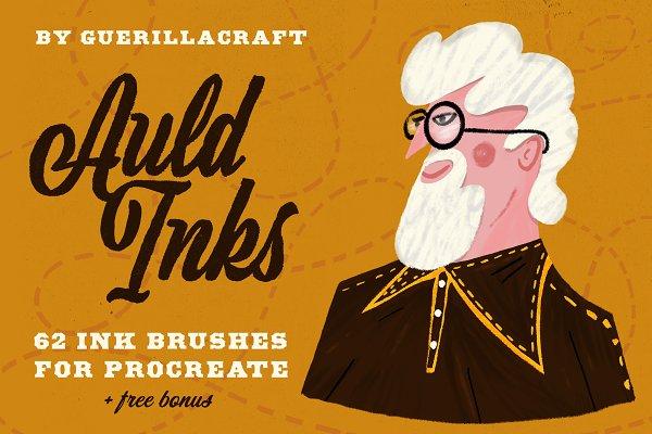 Photoshop Brushes: Guerillacraft - Auld Inks for Procreate