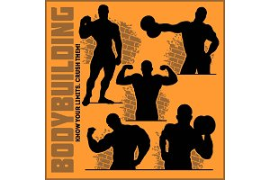 Silhouettes of Bodybuilders - Gym