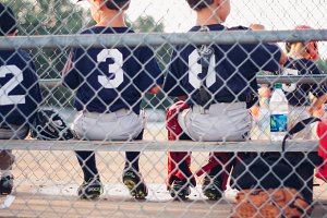 Little Boys at a Baseball Game