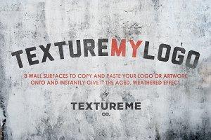 TextureMyLogo#1 Instant Logo Mock Up