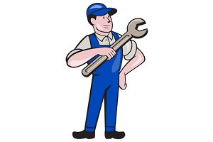 Mechanic Pointing Spanner Wrench Iso