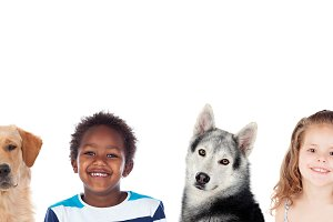 Children and dogs, a good combinatio