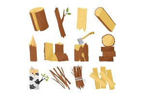 Wood industry raw material and