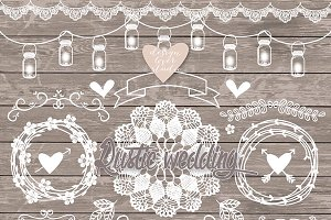 VECTOR Rustic Wedding Elements