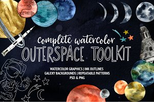 Watercolor Outer Space Toolkit