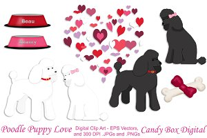 Poodle Puppy Love w/Vectors