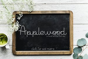 Applewood - a font duo