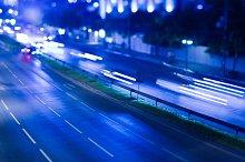 Night traffic in Bangkok