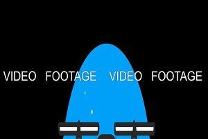Drone Premium flat icon animated