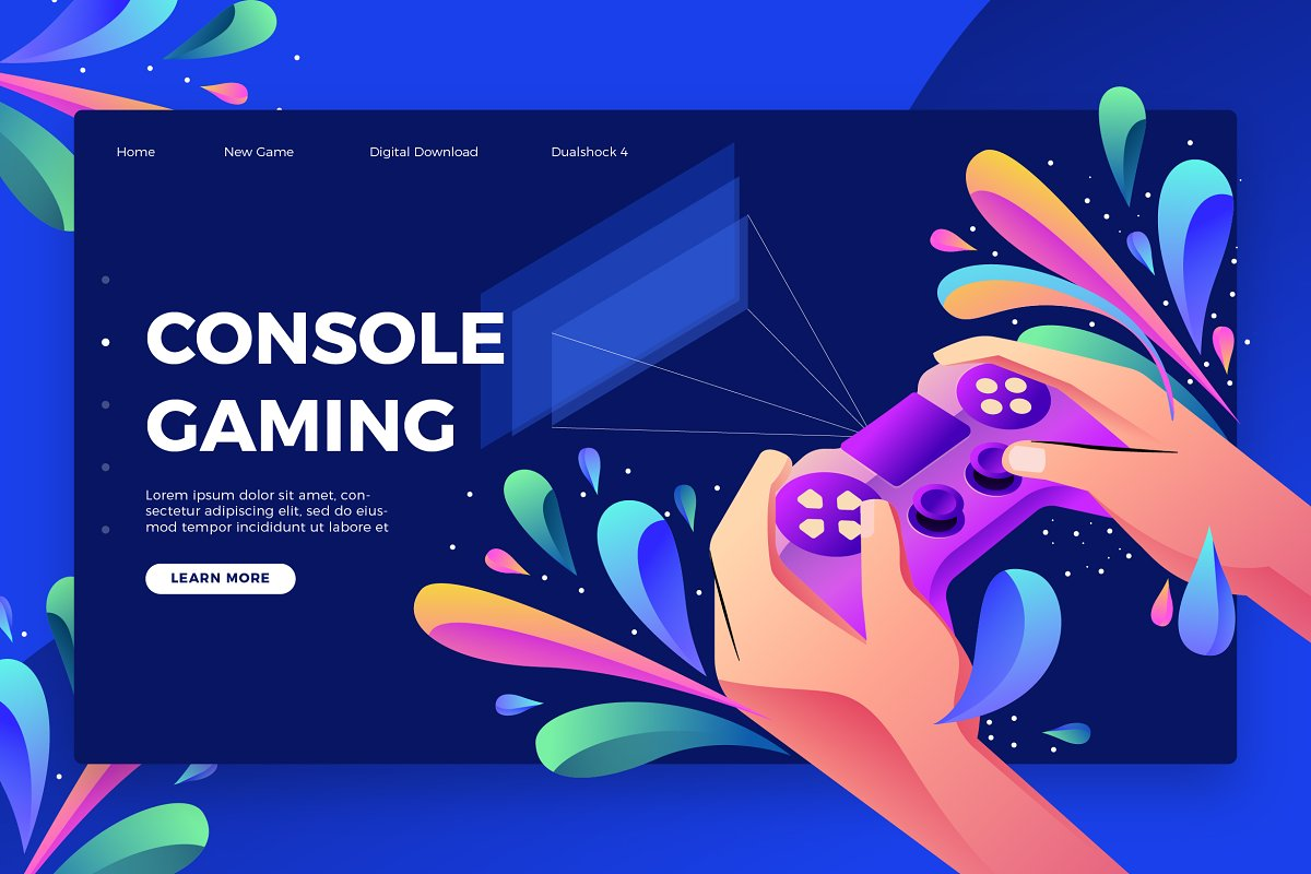 Console Gaming -Banner &Landing Page