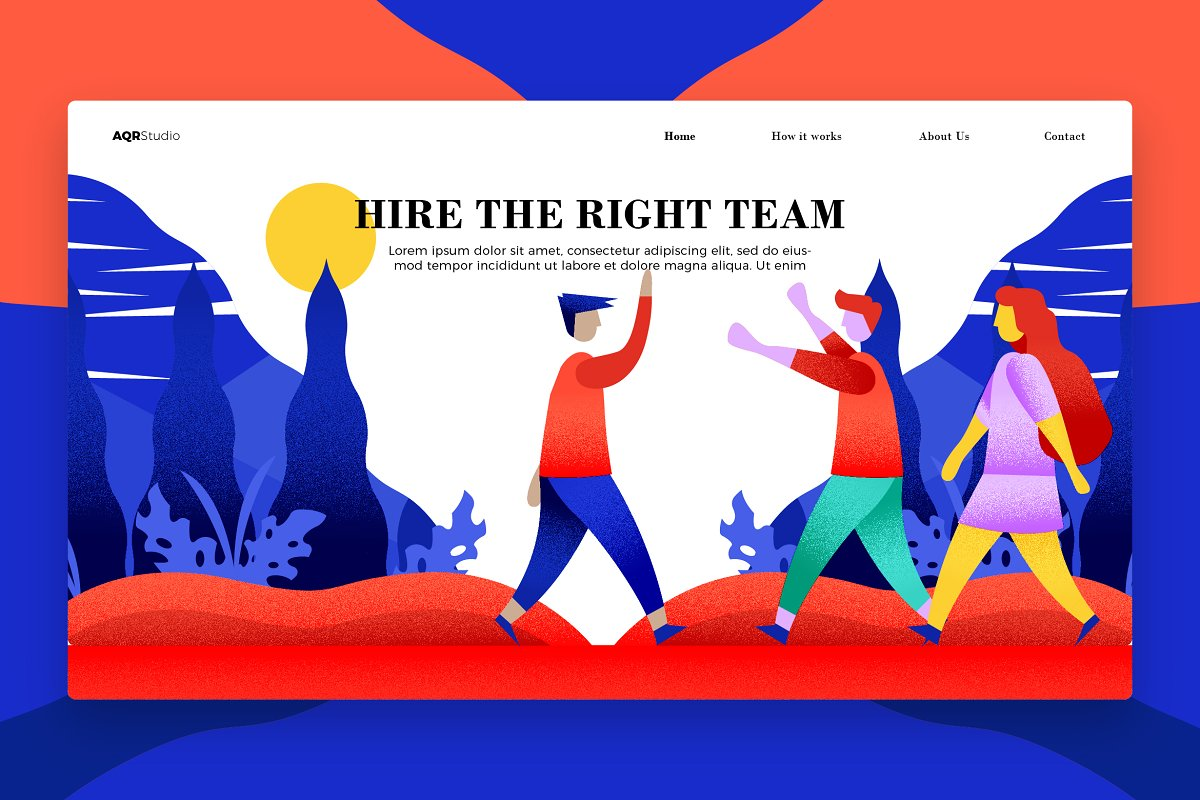 Hire - Banner & Landing Page